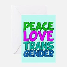 Peace Love Trans Greeting Card