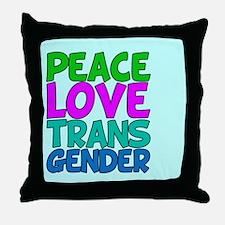 Peace Love Trans Throw Pillow