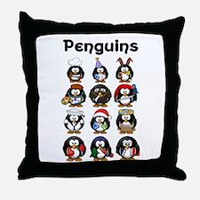 Penguins Throw Pillow