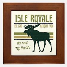 Isle Royale Moose National Park Framed Tile