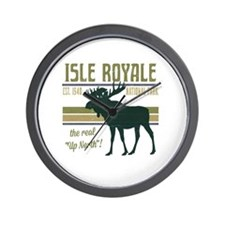 Isle Royale Moose National Park Wall Clock
