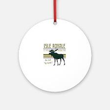 Isle Royale Moose National Park Round Ornament