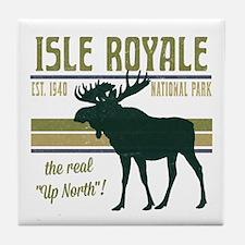 Isle Royale Moose National Park Tile Coaster