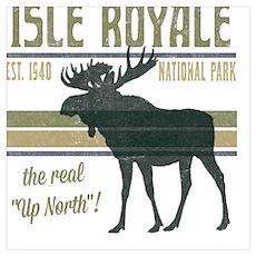 Isle Royale Moose National Park Poster