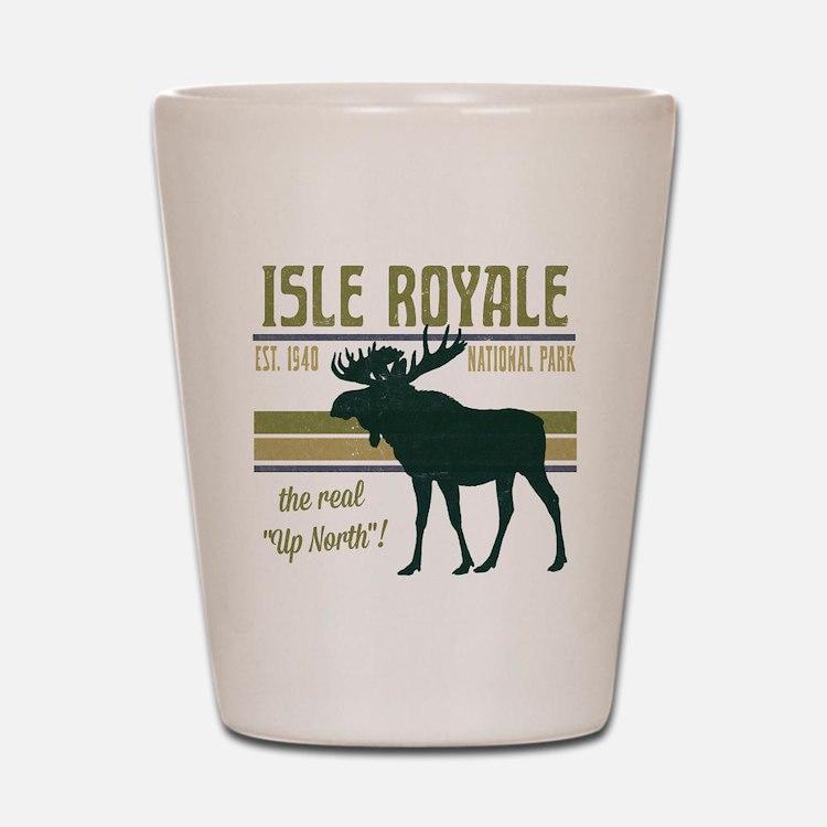 Isle Royale Moose National Park Shot Glass
