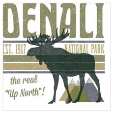 Denali National Park Moose Poster