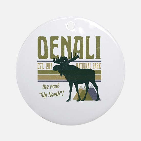 Denali National Park Moose Round Ornament