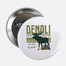 "Denali National Park Moose 2.25"" Button"