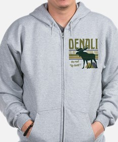 Denali National Park Moose Zip Hoodie