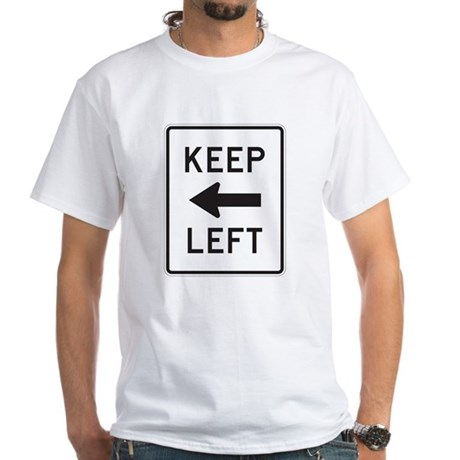Keep Left White T-Shirt
