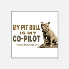 "Cute Pitbull Square Sticker 3"" x 3"""