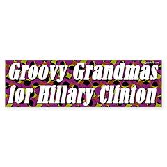 Groovy Grandmas for Hillary Clinton sticker
