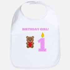 Birthday Girl Teddy Bear Bib
