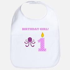 Birthday Girl Octopus Bib