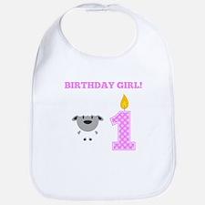 Birthday Girl Sheep Bib