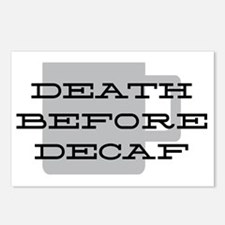 Death Before Decaf Postcards (Package of 8)