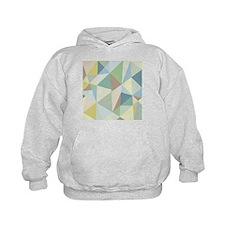 Pastel Colorful Modern Geometric Patte Hoodie