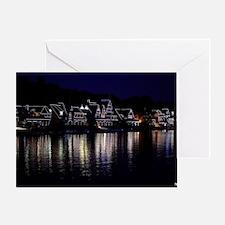Philadelphia Boathouse Row, Nightvie Greeting Card