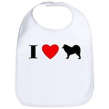 I Heart Samoyed Bib