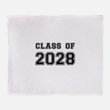 Class of 2028 Throw Blanket