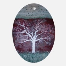 Autumn Frost Oval Ornament