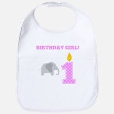 Birthday Girl Elephant Bib