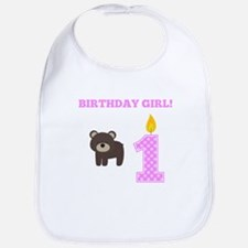 Birthday Girl Bear Bib