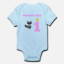 Birthday Girl Raccoon Body Suit