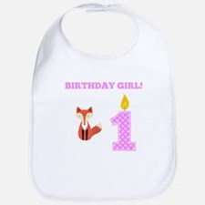 Birthday Girl Fox Bib
