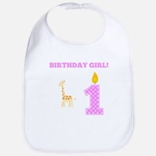 Birthday Girl Giraffe Bib