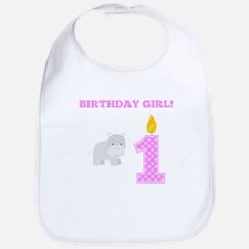 Birthday Girl Hippo Bib
