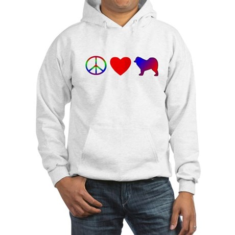 Peace, Love, Samoyed Hooded Sweatshirt