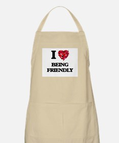 I Love Being Friendly Apron