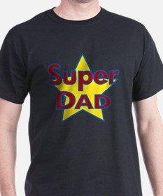 Fathers Day Super Dad with Star.png T-Shirt