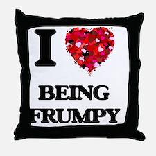 I Love Being Frumpy Throw Pillow