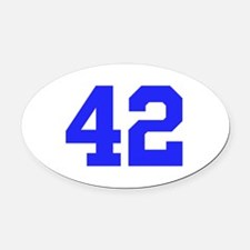 42 Oval Car Magnet