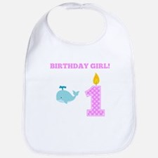 Birthday Girl Whale Bib