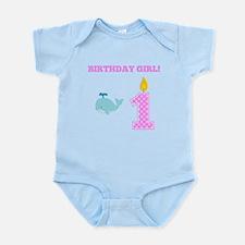 Birthday Girl Whale Body Suit