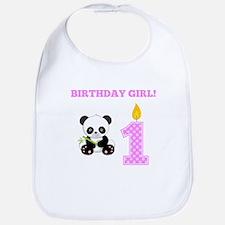 Birthday Girl Panda Bib