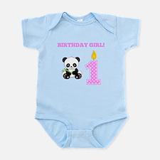 Birthday Girl Panda Body Suit