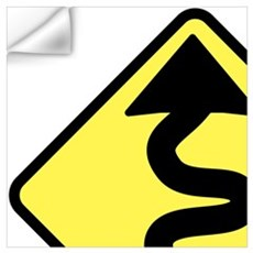Curves Ahead Wall Decal
