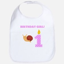 Birthday Girl Snail Bib