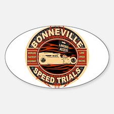 Funny Hot rod Sticker (Oval 10 pk)