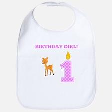 Birthday Girl Deer Bib