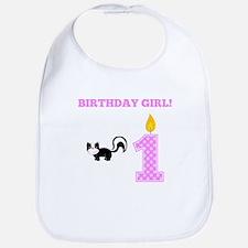 Birthday Girl Skunk Bib