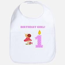 Birthday Girl Snail Bib