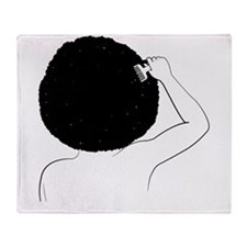 Cute Afro american Throw Blanket