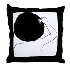 Funny Afro Throw Pillow