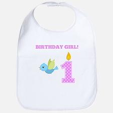 Birthday Girl Bird Bib