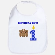 Birthday Boy Teddy Bears Bib